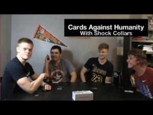 awesomesthesia:  Cards Against Humanity with Shock Collars: Cards Against Humanity  With Shock Collars  23 awesomesthesia:  Cards Against Humanity with Shock Collars