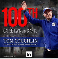 Head, Sports, and Super Bowl: CAREER WITH  GIANTS  TOM COUGHLIN  2X SUPER BOWL CHAMPION AS HEAD COACH  br  H/T B/R INSIGHTS Congratulations to Tom Coughlin! 💯