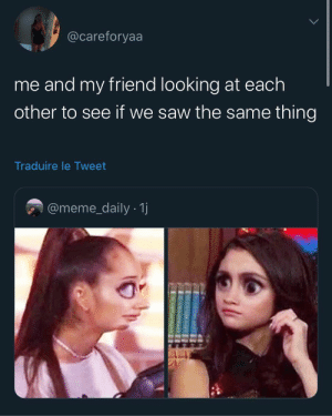 Drake, Funny, and Growing Up Black: @careforyaa  me and my friend looking at each  other to see if we saw the same thing  Traduire le Tweet  @meme_daily 1j Every time • • • • Follow @iyaaspoosst ✨ • • Turn on post notification ❤️ ____________ #queennaina #clarenceandqueen #clarencenyc #chrissails #growingupwithstrictparents #growingupblack #cool #edit #growinguphispanic #dancer #growingupagirl #growingupshy #vines #selfcare #freakycouples #nickiminaj #postpage #aesthetic#gaintrick #growingupspoiled #drake #blackgirlmagic #blackgirl #threads #tweets #funnymemes #funnyvideos #funny #memesdaily