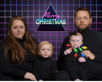 Christmas, Jcpenney, and Did: CARISTMAS Did our Christmas Card in 10 minutes at JCPenney