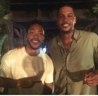 Carmelo Anthony looks pretty happy to have a real point guard. Derrick Rose looks pretty happy to have an elite scorer.  How many points per game do you think they will combine for? I'm gonna say 40.   -Tommy  New York Knicks Memes: Carmelo Anthony looks pretty happy to have a real point guard. Derrick Rose looks pretty happy to have an elite scorer.  How many points per game do you think they will combine for? I'm gonna say 40.   -Tommy  New York Knicks Memes