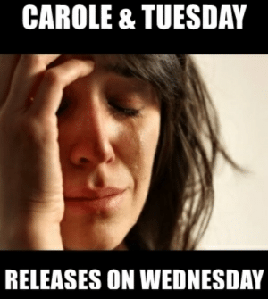 Anime, Wednesday, and Tuesday: CAROLE & TUESDAY  RELEASES ON WEDNESDAY It's Tuesday...