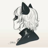 carolgpr:  Quick sketch protait of Chat Noir: carolgpr:  Quick sketch protait of Chat Noir