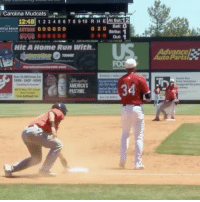 Can't believe buddy really pulled off this hidden ball trick for the out! ⚾️😳😩 @SportsCenter WSHH: Carolina Mudcats  12:48 1 2 3 4 5 6 7 8 9 10 R H E  12  o 20 Ball: O  LSMOS OOOOOO  rRTLE BEACH  Strike: 1  Out: 1  Hit A Home Run With  Over 20.000 Items For  FARM SHOP. HOME  AMERICAS  PASTIME. Can't believe buddy really pulled off this hidden ball trick for the out! ⚾️😳😩 @SportsCenter WSHH