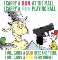 gun: CARRY A GUN AT THE MALL  ICARRY A GUN PLAYING BALL  WILL CARRY AGUN HERE AND THERE.  IWILL CARRY A GUN EVERYWHERE!