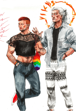 carry-on-my-wayward-artblog:I'm learning what to do with new markers by making Midnighter and Apollo stylish: carry-on-my-wayward-artblog:I'm learning what to do with new markers by making Midnighter and Apollo stylish