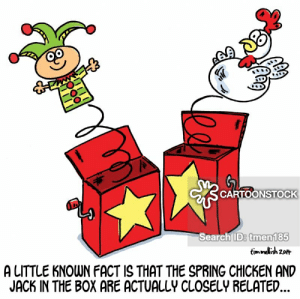 Meme Center Jack In The Box | www.picturesso.com: CARTOONSTOCK  Search ID: tmen185  timmelish 20  A LITTLE KNOWN FACT IS THAT THE SPRING CHICKEN AND  JACK IN THE BOX ARE ACTUALLY CLOSELY RELATED.. Meme Center Jack In The Box | www.picturesso.com