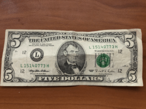 Cashier at the market thought I was paying with fake money. She had to call the manager over. Turns out this note was printed 6 years before she was born.: Cashier at the market thought I was paying with fake money. She had to call the manager over. Turns out this note was printed 6 years before she was born.
