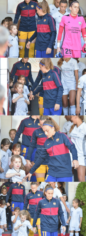 During women's El Clasico  Alexia (Barca player): Come on, we gotta go Girl mascot: But I am from Madrid. Alexia: Come on girl. Girl mascot: But I am from Madrid.  https://t.co/qmnst6z4zH: Casino  Gran Madrid  Online  @FutFem | @LaluRAlbarran  25  BA   BASTIAN  Casino  Gran Madrid  Online  FutFem @LaluRAlbarran   Casino  pMadrid  Onne  @FutFem @LaluRAlbarran  4  KADRIO   @FutFem@LaluRAlbarran During women's El Clasico  Alexia (Barca player): Come on, we gotta go Girl mascot: But I am from Madrid. Alexia: Come on girl. Girl mascot: But I am from Madrid.  https://t.co/qmnst6z4zH