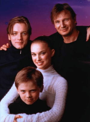 Star Wars, Star, and Today: Cast photo for Star Wars Episode 1: The Phantom Menace, released 20 years ago today.