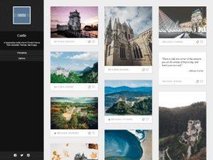 Social Media, Target, and Tumblr: CASTLE  Castle  eretre  SEP 4 2016 28 NOTES  SEP 4 2016 12 NOTES  A responsive multi-column Tumblr theme  from Adorable Themes. Get it here.  Changelog  Options  There is only one corner of the unierse  you can be certain of improving, and  thar's your oun self.  SEP 4 2016 20 NOTES  -Aldous Huxley  SEP 4 2016 1 8 NOTES  SEP 4 2016 9 NOTES  & SEP 4 2016 | 117 NOTES  & SEP 4 20161 366 NOTES adorablethemes: Castle Theme Customizable colors and fonts Upload a background image Two-column permalink page Infinite scrolling Link your social media accounts Styled reblog comments Install | Preview | Options | More themes