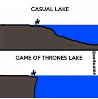 Game of Thrones, Meme, and Memes: CASUAL LAKE  GAME OF THRONES LAKE Inb4 all the geologist roast me over a meme. •Sirius Stark•