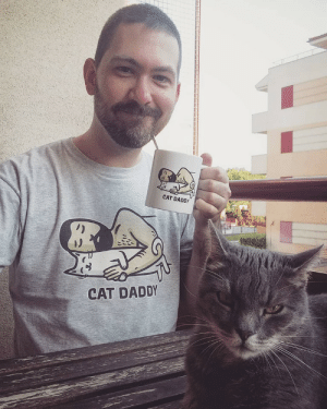 Cheers to cat dads: CAT DADDY  CAT DADDY Cheers to cat dads