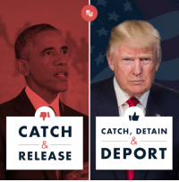 "Lottery, Obama, and Immigration: CATCH  CATCH, DETAIN  RELEASE DEPORT Unlike Obama, President Trump is working to fix the lax immigration policies that endanger Americans!    He wants a comprehensive plan that will ""have Border Security, get rid of Chain, Lottery, Catch & Release Sanctuary Cities - go to Merit based Immigration. Protect ICE and Law Enforcement and, of course, keep building, but much faster, THE WALL!""-President Trump"
