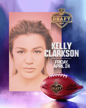 Catch @KellyClarkson's performance during the 2020 Draft Preshow! Tune in this Friday, April 24 at 6pm ET to watch on @nflnetwork and @espn. #NFLDraft https://t.co/KZZEvlO9vo: Catch @KellyClarkson's performance during the 2020 Draft Preshow! Tune in this Friday, April 24 at 6pm ET to watch on @nflnetwork and @espn. #NFLDraft https://t.co/KZZEvlO9vo