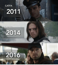 """Credit: """"_the.first.avenger_"""" (IG)   #BuckyBarnes #WinterSoldier: CATFA.  2011  ATVS  2014  MA  2016 Credit: """"_the.first.avenger_"""" (IG)   #BuckyBarnes #WinterSoldier"""