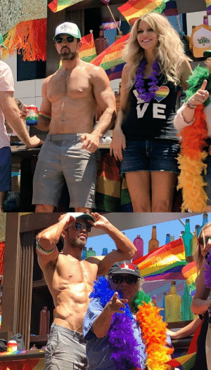 catholicboysdetention:  Rob McElhenney, Kaitlin Olson, and Danny DeVito at L.A Pride Parade, 2018 : catholicboysdetention:  Rob McElhenney, Kaitlin Olson, and Danny DeVito at L.A Pride Parade, 2018