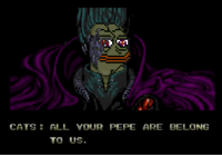 CATS  ALL YOUR PEPE ARE BELONG  TO US.