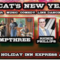 Cats, Memes, and Music: CAT'S NEWYE  R MUSIC COMEDY LINE DANCIN  RICHIE  MPTHREE  PHILLIPS  HOLIDAY INN EXPRESS 20 people interested · 4 going
