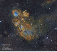 "Cats, Tumblr, and Blog: . Cats Paw Nebula  0  NGC:6334 .  19-July-2018  40h 20m exposure  http://observatory.site/ <p><a href=""http://space-pics.tumblr.com/post/176072198059/cats-paw-nebula-narrowband-40-hours-1686x1501"" class=""tumblr_blog"">space-pics</a>:</p>  <blockquote><p>Cats Paw Nebula (Narrowband, 40 hours) [1686x1501] [OC]</p></blockquote>"