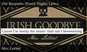 SIZZLE: Cause I'm horny for music that ain't boooooring