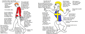 """The virgin Denmark vs the chad Sweden.: Caused the refugee crisis through  involvement in Iraq. Blames Sweden for it.  Peaceful, but will  fight if need be  problem with American or  thinking him unmanly,  because he knows he is right and  Only European  country with the  courage to stand up  against terrorist  nations like Israel  and the USA  Sells weapons to  Been getting their  asses kicked with  those nations at the  Has no  Legal prostitution  same time, doubly  cucking them.  the rest of NEETO  Danish men  because of the  in Afghanistan for  the last 20 years  Incredibly proud of  this fact for some  supreme  unfuckability of  Danish men.  that he could fuck their wives  simply by saying """"Skarsgård.""""  Memetically beautiful  people  reason  Pro-bestiality rallies.  ONE metal  Greatest viking hero  Ragnar Lodbrok was  actually a Swede,  according to their  own fucking sources.  musician (King  Diamond). All his  greatest albums  where made with a  Sweden cucks  Denmark list:  Founded Russia.  Fyrisvellir 980  *Lena 1208  Also occupied  Moscow in 1610.  band consisting of  Brunkeberg 1471  Brännkyrka 1518  Bråvellir 700's  SATN 90% Swedish  RVLE musicians.  Danish cowards literally had  So bad at fighting  that they literally  made a big budget  to hire a Swede to fix their  problems in Beowulf  ONE video game  *March across the  company which  have only produced  like 2-3 good  belts 1658  Greatest video game industry  in Europe  miniseries about  *Lund 1676  getting cucked by  Germany in 1863.  Helsingborg 1710  etc, etc, etc, etc  games in fair to  middling series  (Hitman.)  Greatest metal scene in  Has to pretend to  have a special bond  with former colony  Norway. Otherwise  Norway would have  no history, and  Denmark no  Europe.  WILL win the culture wars  Only liked by  America in order to  wether Sanders is elected  president  already. At that point Denmark will  or not. If he hasn't  Humon. Just  own the Swedes.  Humon  In actuality yanks  suck his dic"""