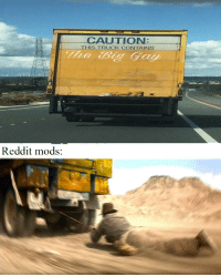 """Meme, Reddit, and Http: CAUTION  IS TRUCK CONTAINS  The Big Gay  Reddit mods: <p>I made this meme/format, i think it might have some potential, buy wisely via /r/MemeEconomy <a href=""""http://ift.tt/2FRmVaE"""">http://ift.tt/2FRmVaE</a></p>"""