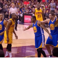 Memes, Andre Iguodala, and James Jones: CAV  23  34  l0 Throwback: Andre Iguodala tries to high five James Jones! 😂
