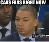 Basketball, Cavs, and Nba: CAVS FANS RIGHT NOW  @NBAMEMES  CLE 46  GS  72  2ND 1:39 nbamemes nba cavs