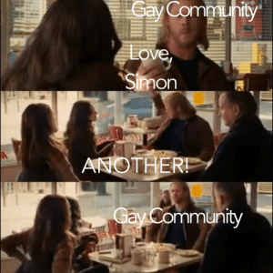 nerdle-turtle:  Another!: Cay  Communty  Love,  Simon  ANOTHER!  Gay Community nerdle-turtle:  Another!