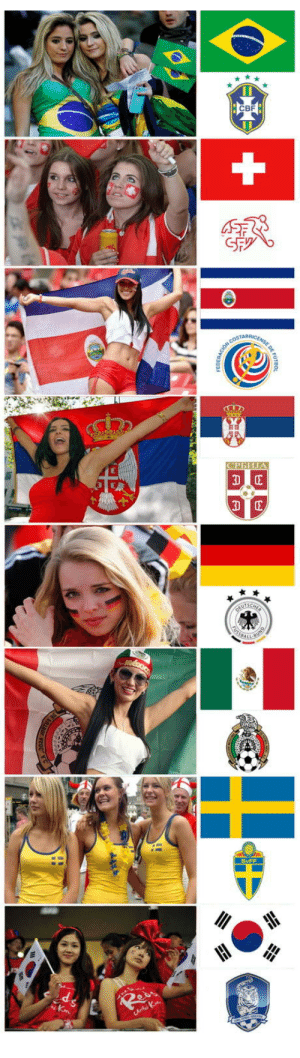 World Cup beautiful women from around the globe (part 3): CBF  AOF  SvFF World Cup beautiful women from around the globe (part 3)
