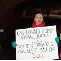 This is fake news because I heard Paul Blart won a Grammy so take that liberal media 🤗: CBS DONALD TRUMP  APPROVAL RATING:  ROTTEN TOMATOES  PAUL BLART: MALL COP  337. This is fake news because I heard Paul Blart won a Grammy so take that liberal media 🤗