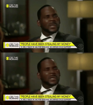 """Hey Kirk Cousins, how many MNF games have you won?""  Cousins: https://t.co/Qd2H5edU81: CBS THIS  MORNING  CBS THIS ""PEOPLE HAVE BEEN STEALING MY MONEY""  MORNING  R. KELLY BACK IN JAIL FOR $160,000+ IN UNPAID CHILD SUPPORT   CBS THIS  MORNING  CBS THIS ""PEOPLE HAVE BEEN STEALING MY MONEY""  MORNING  R.KELLY BACK IN JAIL FOR $160,000+ IN UNPAID CHILD SUPPORT ""Hey Kirk Cousins, how many MNF games have you won?""  Cousins: https://t.co/Qd2H5edU81"