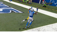 VIDEO: Calvin Johnson makes an incredible tip toe touchdown catch. Megatron: CBSE1車NETWORK  CBS⑨ NETWaan  arSON  BI VIDEO: Calvin Johnson makes an incredible tip toe touchdown catch. Megatron