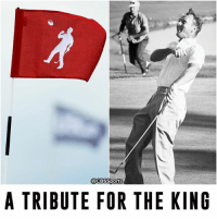 The 18th pin at the US Open commemorates Arnold Palmer's epic celebration from his 1960 title.: @CBSSports  A TRIBUTE FOR THE KING The 18th pin at the US Open commemorates Arnold Palmer's epic celebration from his 1960 title.