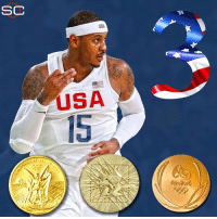 BREAKING: Carmelo Anthony becomes the first basketball player to win 3 Olympic Gold Medals (4 medals total) as the USA takes the championship in Rio. Melo finishes his Olympic career as the USA's all-time leading scorer. Congrats, Melo! -Tommy  New York Knicks Memes Graphic via SportsCenter: CC  USA  USA  cri  fe 2016 BREAKING: Carmelo Anthony becomes the first basketball player to win 3 Olympic Gold Medals (4 medals total) as the USA takes the championship in Rio. Melo finishes his Olympic career as the USA's all-time leading scorer. Congrats, Melo! -Tommy  New York Knicks Memes Graphic via SportsCenter