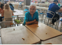 My Abuelito saved us seats using Jalapenos he keeps in his pockets: cDonaldS My Abuelito saved us seats using Jalapenos he keeps in his pockets
