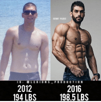 Clothes, Facebook, and Gym: CE VAT YILDIZ  LEGI  ON S  PRODUCTION  l G  2012  2016  1985 LBS  194 LBS 🔥😳TRANSFORMED! Founder 👉: @king_khieu. 2012 to 2016. 194 lbs = 88 kg. 198.5 lbs = 90 kg. Thoughts? 🤔 What do you guys think? COMMENT BELOW! Athlete: @cevatyldz_. Photography 📸: @gillescrofta. TAG SOMEONE who needs to lift! _________________ Looking for unique gym clothes? Use our 10% discount code: LEGIONS10🔑 on Ape Athletics 🦍 fitness apparel! The link is in our 👆 bio! _________________ Principal 🔥 account: @fitness_legions. Facebook ✅ page: Legions Production. @legions_production🏆🏆🏆.