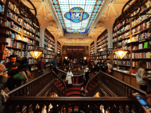 Lello Bookshop located in Porto, Portugal. Said to be inspiration for J.K. Rowling in the creation of Harry Potter World Building.: cecceeeee Lello Bookshop located in Porto, Portugal. Said to be inspiration for J.K. Rowling in the creation of Harry Potter World Building.