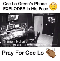 WordOnDaStreet (@beefalert): Cee Lo Green's Phone  EXPLODES In His Face  iamphillychase  tso 200 HD1920P  .976FPS  Pray For Cee Lo WordOnDaStreet (@beefalert)