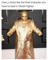 Funny, Street Fighter, and Cee Lo: Cee Lo looks like the final character you  have to beat in Street Fighter Street Fighter meme series part 2 feat @chrisdelia