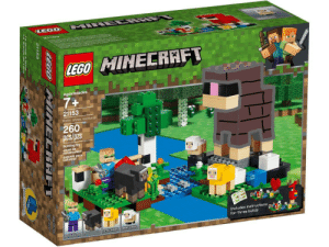 Lego, Water, and Baby: CEGO  LEGO MINELRAFT  Ages/edades  7+  21153  Water sheep memorial  260  pcs/pzs  Bulding Toy  JOuetion  Juquete para  Construir  A  Includes instructions  for three builds  BABY SHEEP  DYED SHEEP  FOWDEHS  aacD N NECRAFT  21153 Water Sheep Memorial! (This is edited, take it lightly)