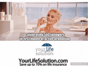 "Craigslist, Life, and Tumblr: Celebrating 500 followers  infirstmonthofactive oromotion  your life  solution  YourLifeSolution.com  Save up to 70% on life insurance  ETEE ERT life-insurancequote: danny-roc:  life-insurancequote:  life-insurancequote:  FOLLOW US and some lady will come drink champagne in your bathtub maybe  Just hit 3250 followers.  …Is there any way you can guarantee me that this will happen  First things first – do you have a bathtub?  Because that is integral to being the recipient of this offer.  Second, when you factor in how loose the term ""some lady"" is… PM me your address and I'm sure we can work out something the Craigslist way."