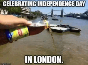 Tea party anyone?: CELEBRATING  INDEPENDENCE DAY  IN LONDON  imgflip.cO Tea party anyone?