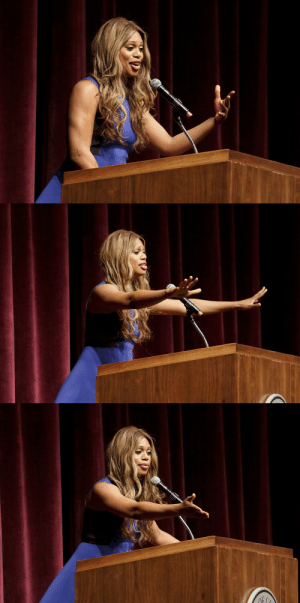 celebritiesofcolor:  Laverne Cox speaks at the Jorgensen Center for the Performing Arts on April 22, 2015 in Storrs, Connecticut.: celebritiesofcolor:  Laverne Cox speaks at the Jorgensen Center for the Performing Arts on April 22, 2015 in Storrs, Connecticut.