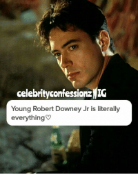 celebrity confessionzNIG  Young Robert Downey Jr is literally  everything Ugh why do tattoos have to be so expensive. -LayLay { robertdowneyjr}