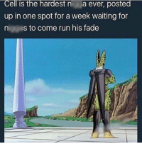 Cell was bout that life 😂: Cell is the hardest n  a ever, posted  up in one spot for a week waiting for  n s to come run his fade Cell was bout that life 😂