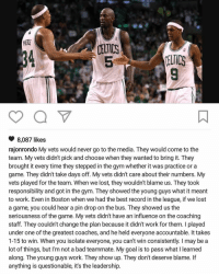 Basketball, Celtic, and Dwyane Wade: CELTICS  CELTICS  8,087 likes  rajonrondo My vets would never go to the media. They would come to the  team. My vets didn't pick and choose when they wanted to bring it. They  brought it every time they stepped in the gym whether it was practice or a  game. They didn't take days off. My vets didn't care about their numbers. My  vets played for the team. When we lost, they wouldn't blame us. They took  responsibility and got in the gym. They showed the young guys what it meant  to work. Even in Boston when we had the best record in the league, if we lost  a game, you could hear a pin drop on the bus. They showed us the  seriousness of the game. My vets didn't have an influence on the coaching  staff. They couldn't change the plan because it didn't work for them. played  under one of the greatest coaches, and he held everyone accountable. It takes  1-15 to win. When you isolate everyone, you can't win consistently. I may be a  lot of things, but I'm not a bad teammate. My goal is to pass what l learned  along. The young guys work. They show up. They don't deserve blame. If  anything is questionable, it's the leadership Rajon Rondo calls out Bulls teammates Dwyane Wade and Jimmy Butler for their criticism of the team. (via TheVertical-Twitter) nba bulls wade butler nbamemes