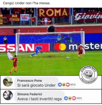 Memes, Champions League, and 🤖: Cengiz Under non l'ha messa.  ANR ROMA  DAJE  Gruppo  lio  SSAN1<m ste  Francesco Pone  Si sarà giocato Under 630904  Simone Federioi  Aveva i tasti invertiti rega 0584  CL  GNOR Non è possibile. . under cengizünder ünder roma asroma real realmadrid madrid championsleague champions league ucl stadioolimpico uefa commenticalcignoranti
