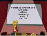 Minecraft, Pixels, and Porn: Censoring minecraft porn  with pixels  will only  increase the  quality of  the porn You know its the truth